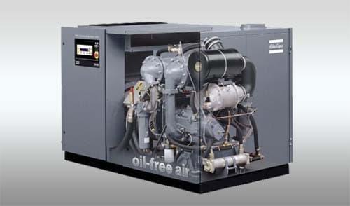 阿特拉斯螺杆式空压机采用进口零配件组装